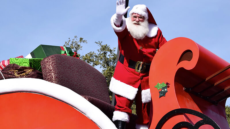 Der Weihnachtsmann zu Besuch im Cretaquarium