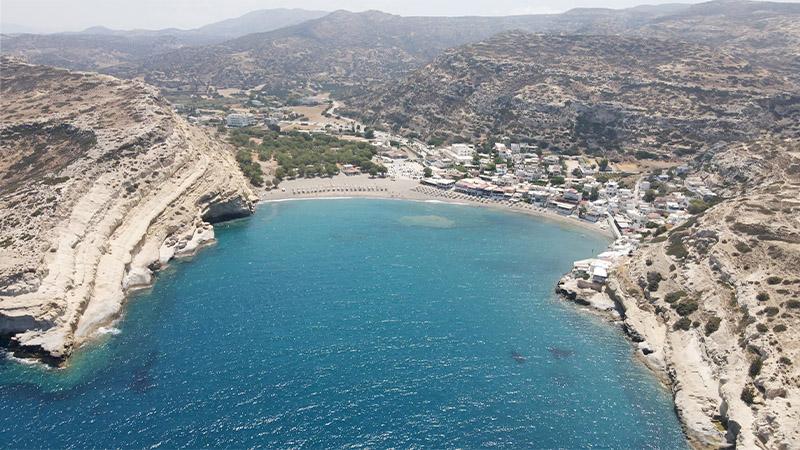 Matala - das Hippiedorf im Süden Kretas